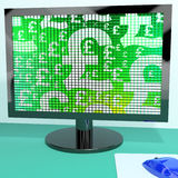 Pound Symbols On Computer Monitor Stock Photography