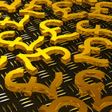 Pound Symbols On Floor Showing British Currency Royalty Free Stock Photography