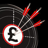 Pound Target Shows United Kingdom Banking Royalty Free Stock Image
