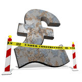 Pound under construction Stock Photography