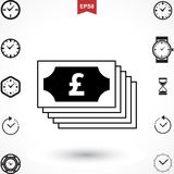 Pound Vector Icon Stock Images