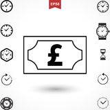 Pound Vector Icon Royalty Free Stock Photos