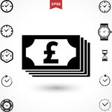 Pound Vector Icon Royalty Free Stock Images