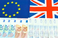 Pound versus euro Royalty Free Stock Photo