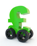 Pound on wheels Royalty Free Stock Photo