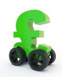Pound on wheels Royalty Free Stock Photo