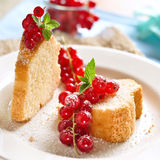 Poundcake. With fresh red currants Royalty Free Stock Image