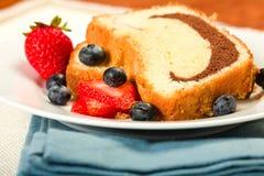 Poundcake marmoreado foto de stock royalty free