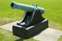 12-pounder Napoleon cannon, model of 1857 with handles at Fort Hamilton US Army base in Brooklyn. It is one of 23 Napoleon with handles produced in 1861 Stock Photos