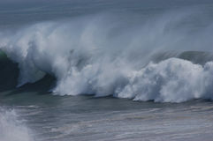 Pounding Surf. A big wave pounding on the shore in autumn in Japan Stock Photography