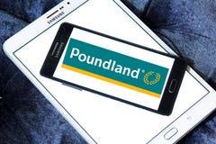 Poundland商店链子商标 免版税库存照片