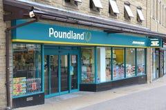 Poundland lager Arkivfoto