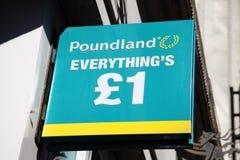 Poundland logo sign Royalty Free Stock Photo