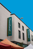Poundland sklepu znaka sklepu przód Obrazy Royalty Free