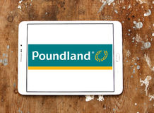 Poundland store chain logo. Logo of Poundland store chain on samsung tablet. Poundland is a British variety store chain founded in 1990 that sells most items in Royalty Free Stock Image