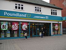 Free Poundland Store In Staines High Street In Surrey Uk. Royalty Free Stock Images - 108748669
