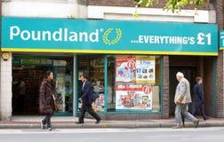 Poundland Store Stock Photography