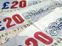 Pounds. British Pounds bank notes money Royalty Free Stock Photos