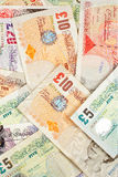Pounds background. Pounds money background with selective focus at front Royalty Free Stock Photo