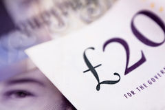 Pounds banknote sign Royalty Free Stock Images