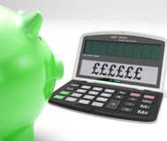 Pounds Calculator Shows UK Interest On Wealth Royalty Free Stock Photography