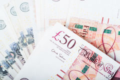 Pounds currency Royalty Free Stock Photos