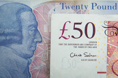 Pounds details. Great Britain pounds with lots of details Royalty Free Stock Photos