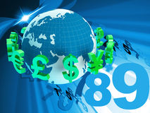 Pounds Dollars Shows Euro Sign And Euros Royalty Free Stock Photos