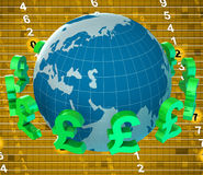 Pounds Forex Means Worldwide Trading And Currency Stock Photography