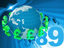 Pounds Forex Represents Foreign Currency And Fx Stock Image