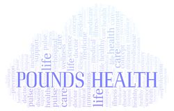 Pounds Health word cloud. Wordcloud made with text only royalty free illustration