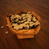 Pounds money in a bag. 3d rendering Stock Photo