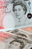 Pounds note - Queen Elisabeth Royalty Free Stock Photography