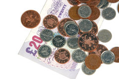 Pounds and Pence Royalty Free Stock Images