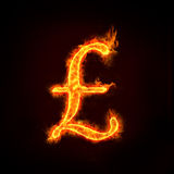 Pounds sign. In flames, check my profile for fire series vector illustration