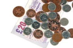 Pounds und Pennys Lizenzfreie Stockbilder