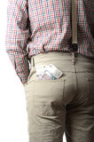 Pounds in your pocket Stock Images