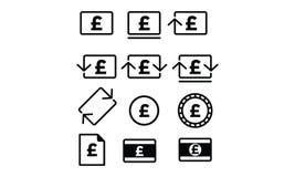 Poundsterling symbol vektor illustrationer