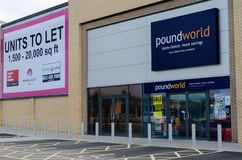 The poundworld store at Rhyl royalty free stock photography