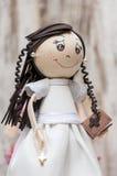 Poupée avec la robe de mariage Images libres de droits