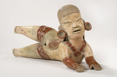 Poupée d'argile d'Olmec Images stock