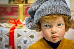 Poupée d'enfant de Noël Image stock