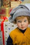 Poupée d'enfant de Noël Photos libres de droits