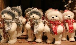 Poupée d'ours de Santa Claus Photos libres de droits