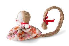 Poupée de chiffon traditionnelle russe avec la tresse Photographie stock libre de droits