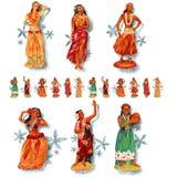 poupée de danse polynésienne Photo stock