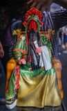 Poupée de Guan Yu à vendre à la rue antique de Jinli image stock