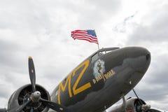 Poupée de jour J de Douglas C-53 Skytrooper sur l'affichage Photographie stock