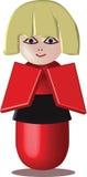 Poupée de Kokeshi : personnage de dessin animé de vecteur Image stock