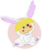 Poupée de lapin illustration de vecteur